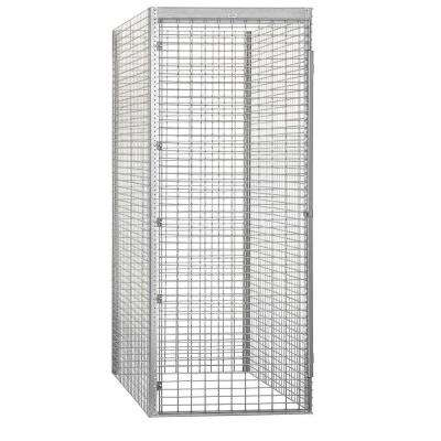 8100 Series 36 in. W x 90 in. H x 60 in. D 1-Tier Bulk Storage Locker Starter in Aluminum