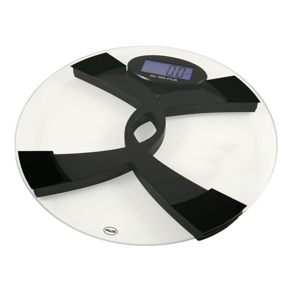 American Weigh Scales Digital Glass Top Talking Bathroom Scale
