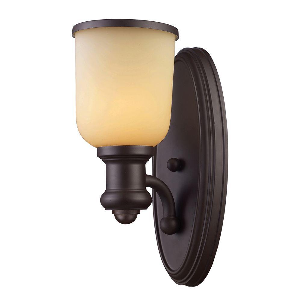 Titan Lighting Brooksdale 1-Light Oiled Bronze Sconce
