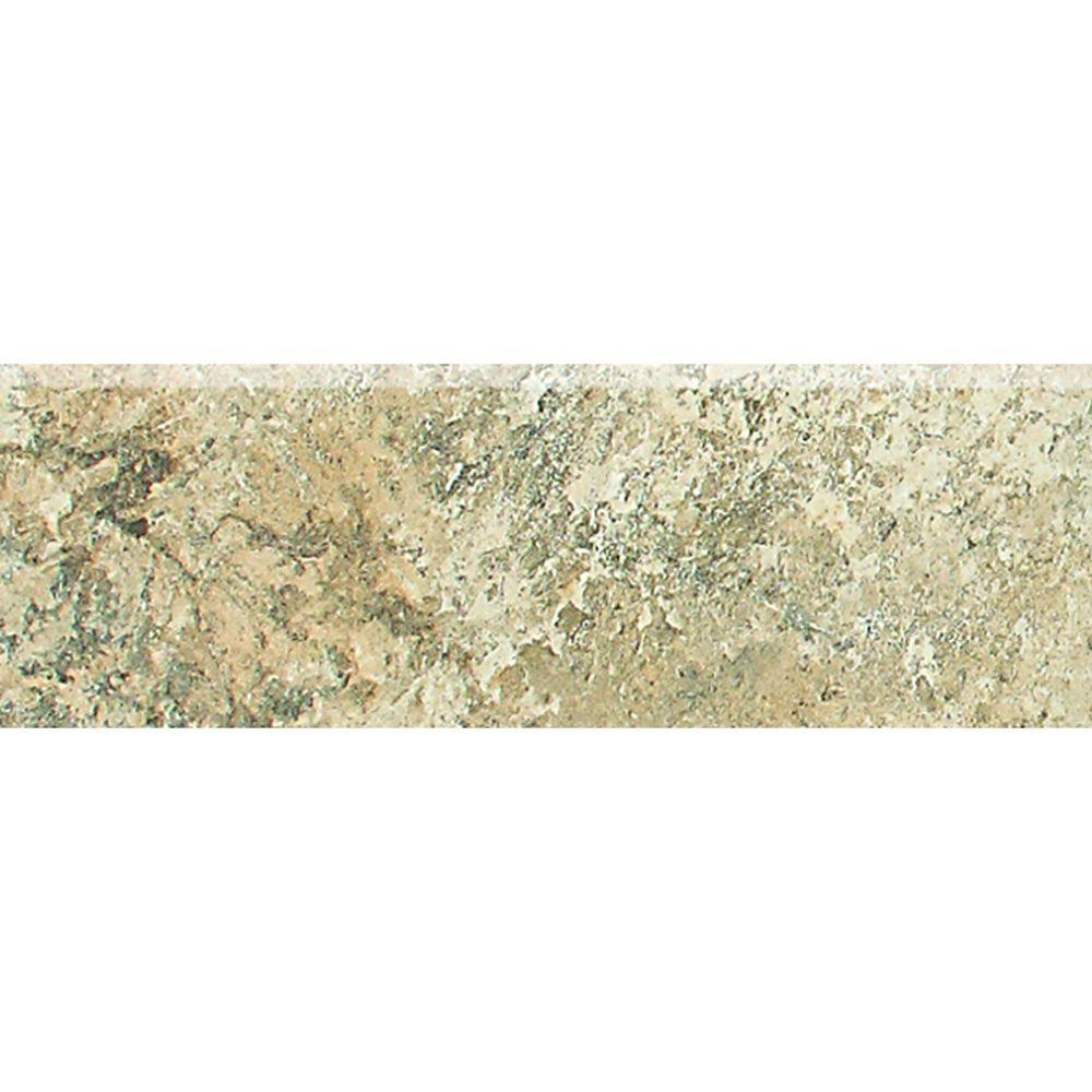 Daltile Folkstone Slate Sandy Beach 2 In X 6 Porcelain Bullnose Wall Tile