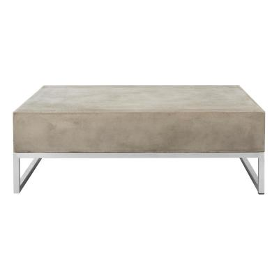 Eartha Dark Gray Square Stone Indoor/Outdoor Coffee Table