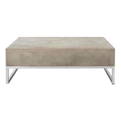 Eartha Dark Gray Stone Indoor/Outdoor Coffee Table