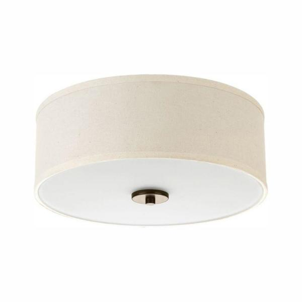 Inspire Collection 17-Watt Antique Bronze Integrated LED Flush Mount