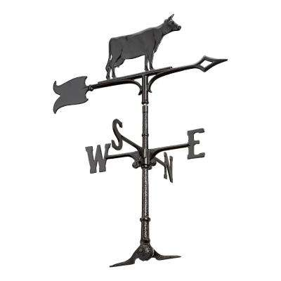 30 in. Black Cow Accent Weathervane