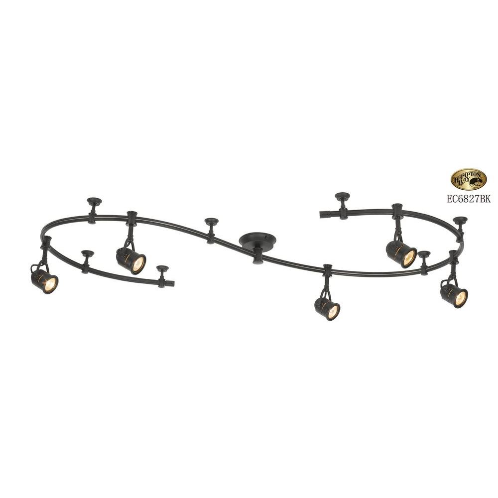 Hampton Bay 10 Ft. 5-Light Black Flexible Track Lighting