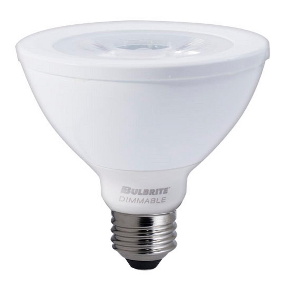 Narrow Flood: Bulbrite 75W Equivalent Soft White Light PAR30SN Dimmable