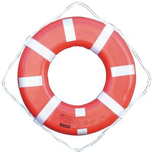 Jim-Buoy 24 inch G Style Life Ring with Straps and Reflective Tape in Orange by Jim-Buoy