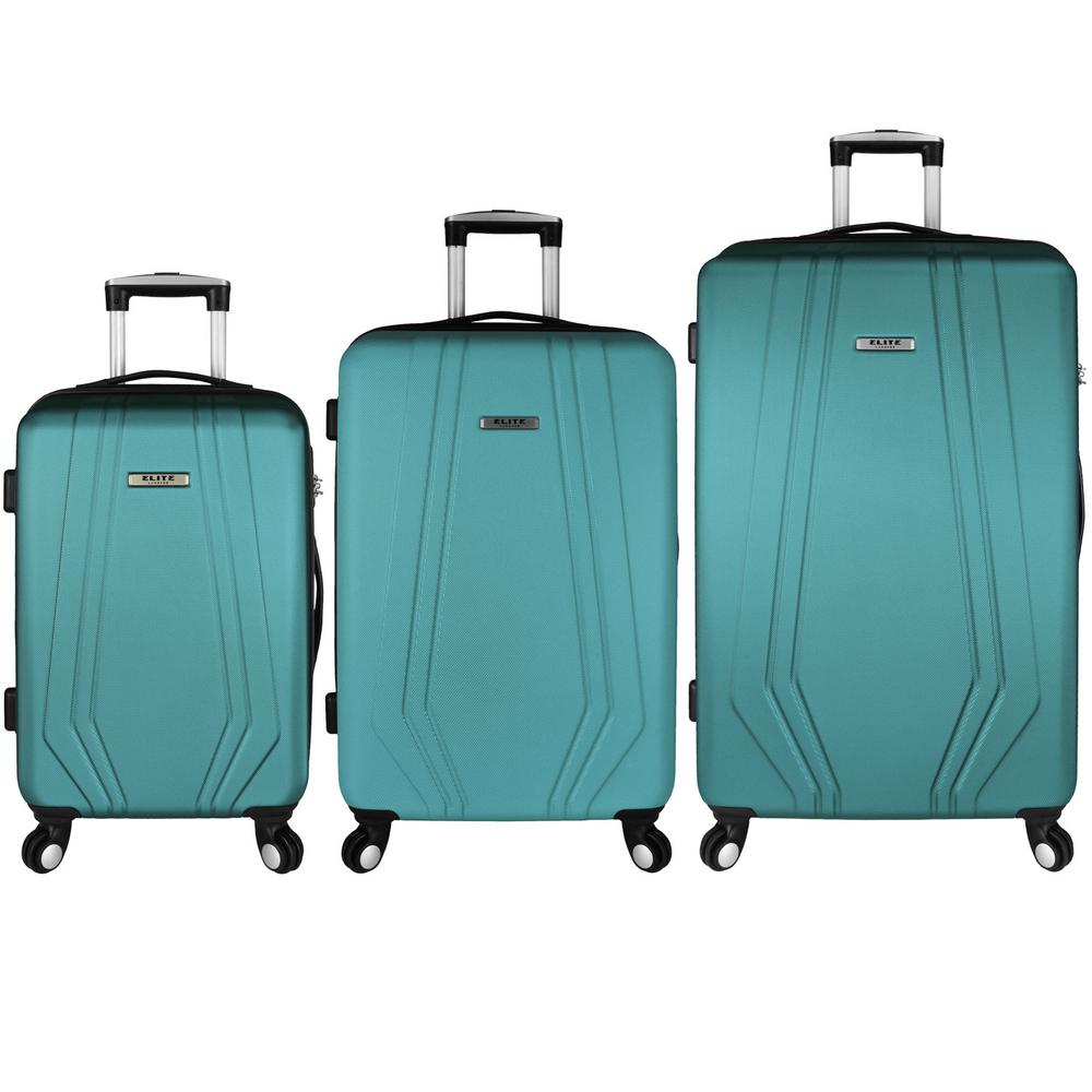 Elite Luggage Paris 3 Piece Hardside Spinner Luggage Set