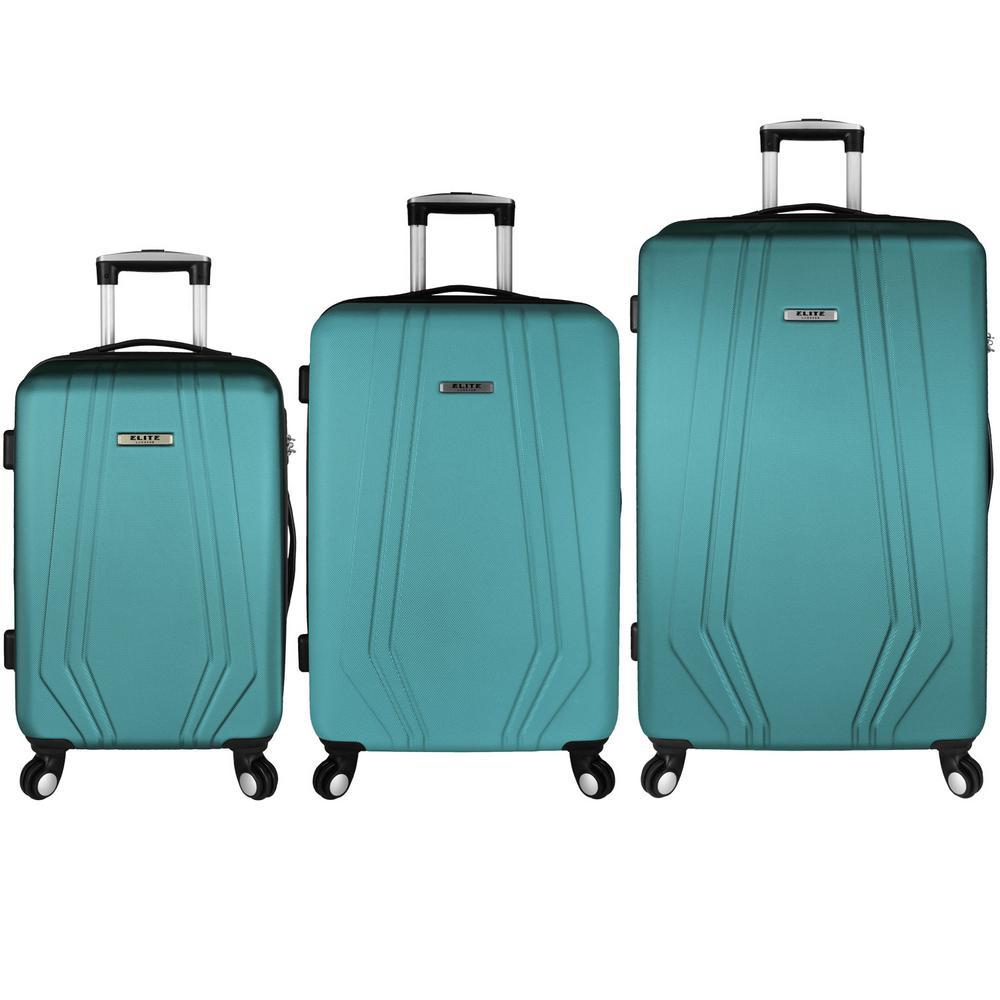 Paris 3-Piece Hardside Spinner Luggage Set, Teal