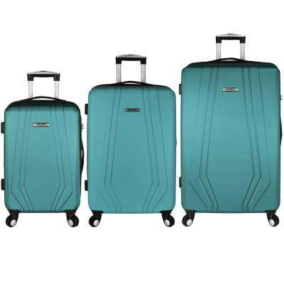 Paris 3-Piece Hardside Spinner Luggage Set, Teal