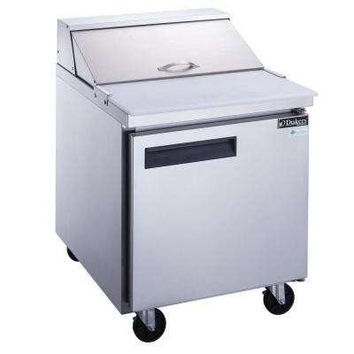 29 in. W 6.5 cu. Ft. 1-Door Commercial Food Prep Table Refrigerator in Stainless Steel