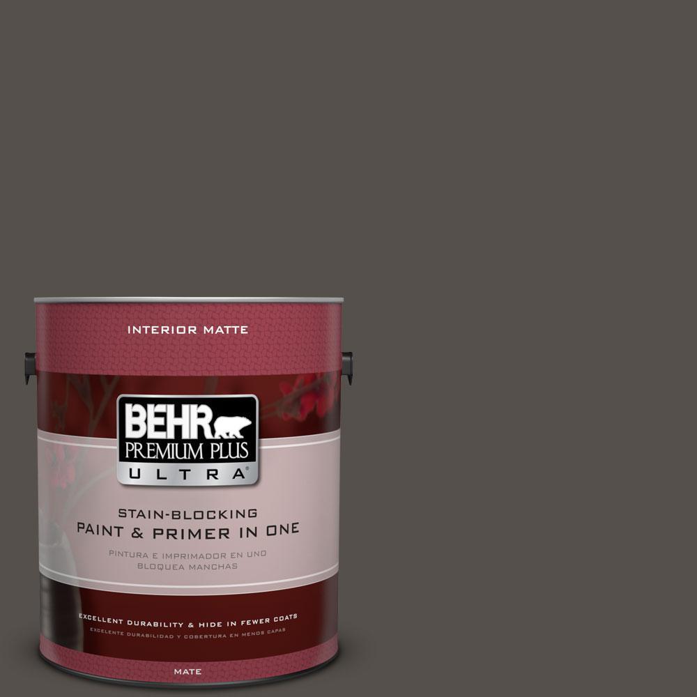 1 gal. #790D-7 Black Bean Flat/Matte Interior Paint