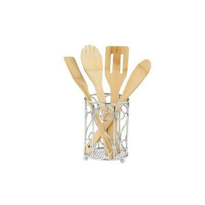 5 in x 5 in x 6.75 in Cutlery Holder in Chrome