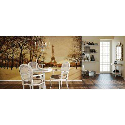 118 in. x 98 in. Paris Wall Mural