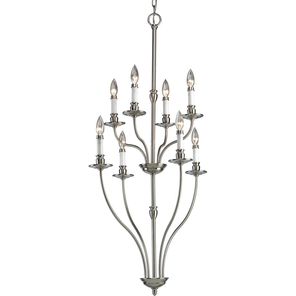 Progress Lighting Richmond Hill Collection Brushed Nickel 8-light Chandelier -DISCONTINUED