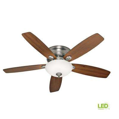 Low Profile IV 52 in. LED Indoor Antique Pewter Ceiling Fan