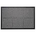 Commercial Rubber Mat Collection Durable Anti Fatigue 36 in. x 60 in. Restaurant Bar Drainage Rubber Floor Mat