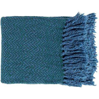 Lorelei Teal Acrylic Throw