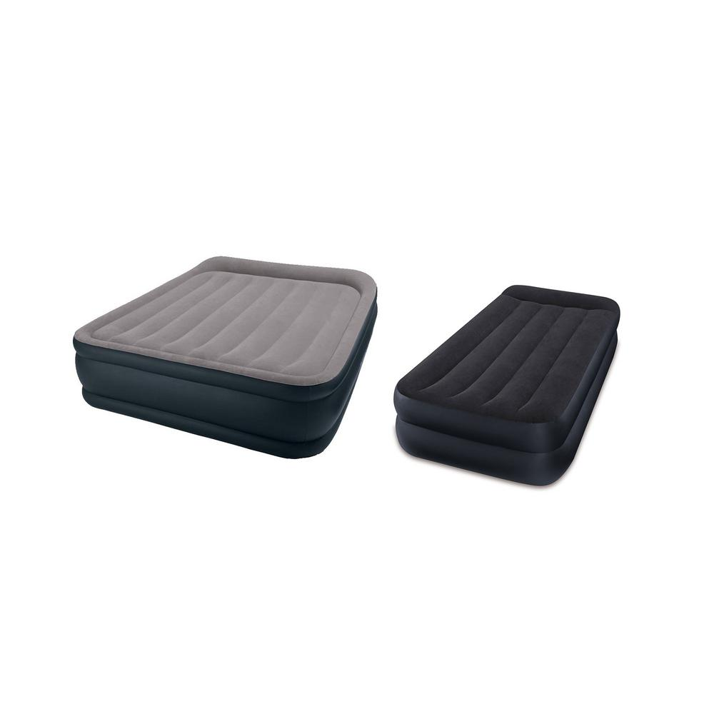 Queen Air Bed With Built In Pump Inflatable Mattress Twin Intex Air Bed Black