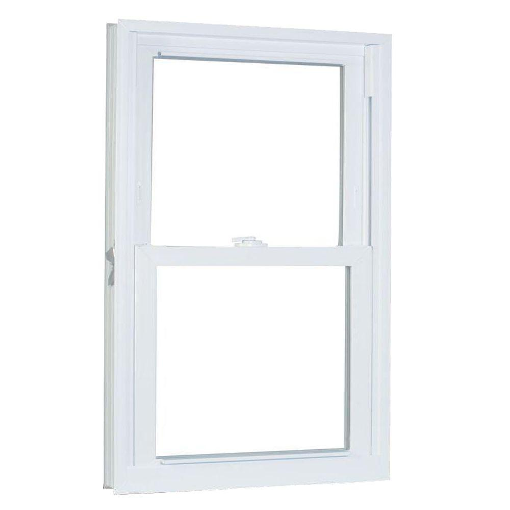 American Craftsman 27.75 in. x 65.25 in. 70 Series Pro Double Hung White Vinyl Window with Buck Frame