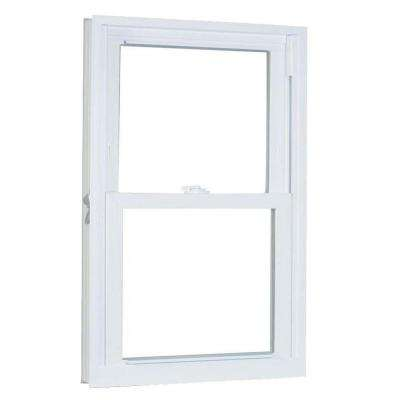 27.75 in. x 65.25 in. 70 Series Pro Double Hung White Vinyl Window with Buck Frame