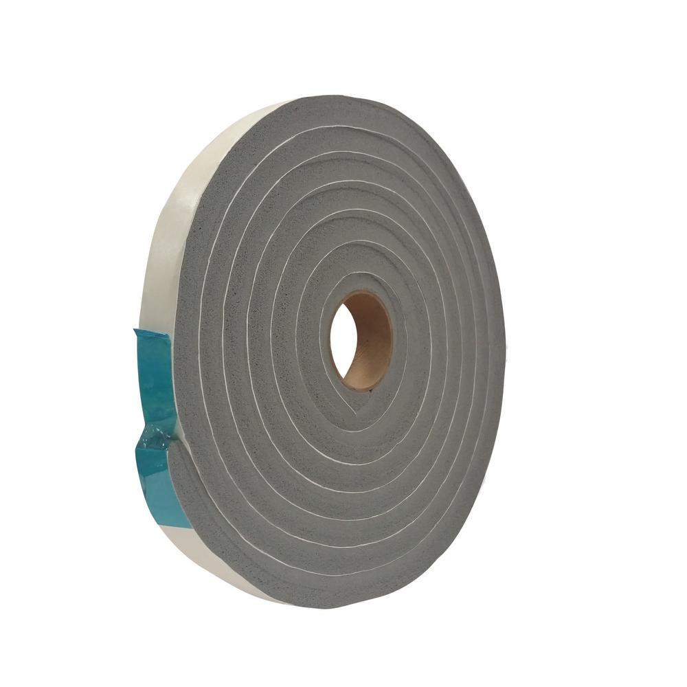 3/4 in. x 1/2 in. 10 ft. Grey Vinyl Foam Weather-Seal