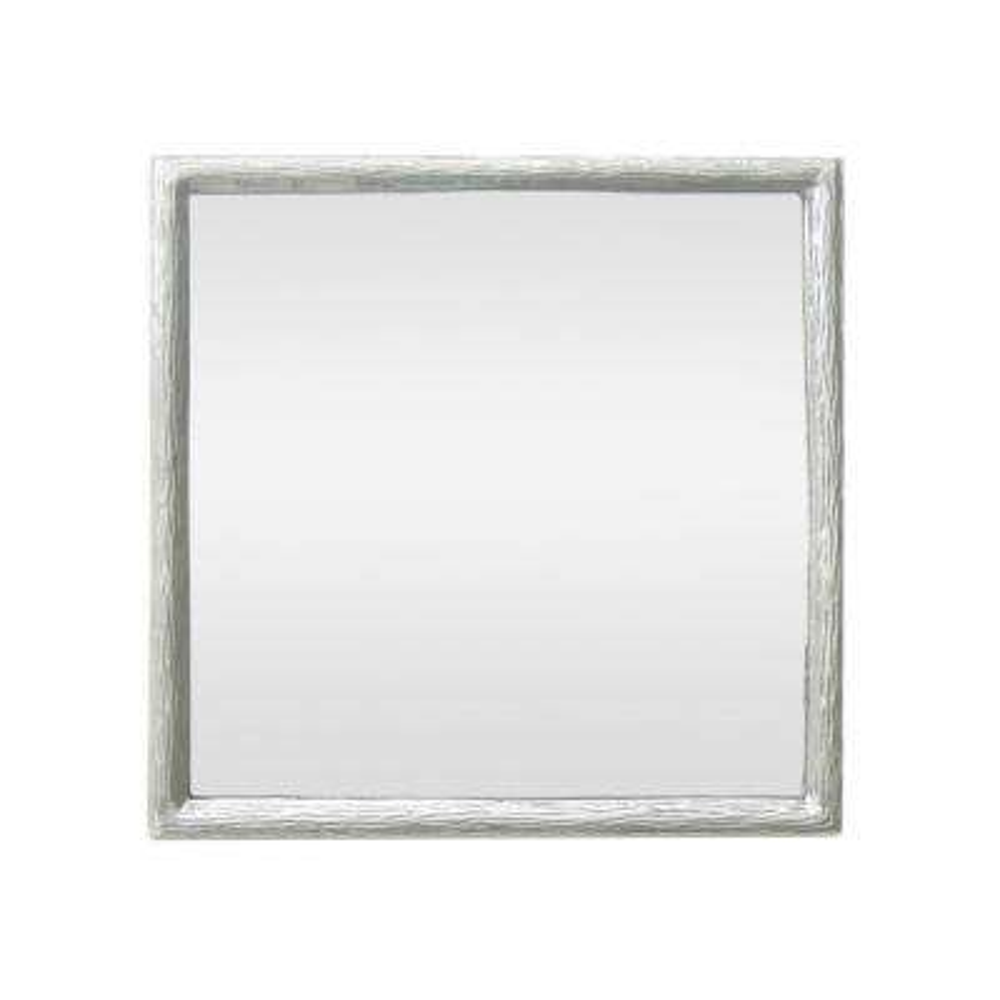 17.5 in. Aluminum Mirror in Silver