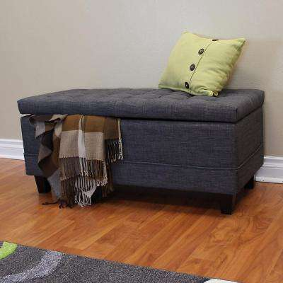 Raymond Dark Gray Storage Bench