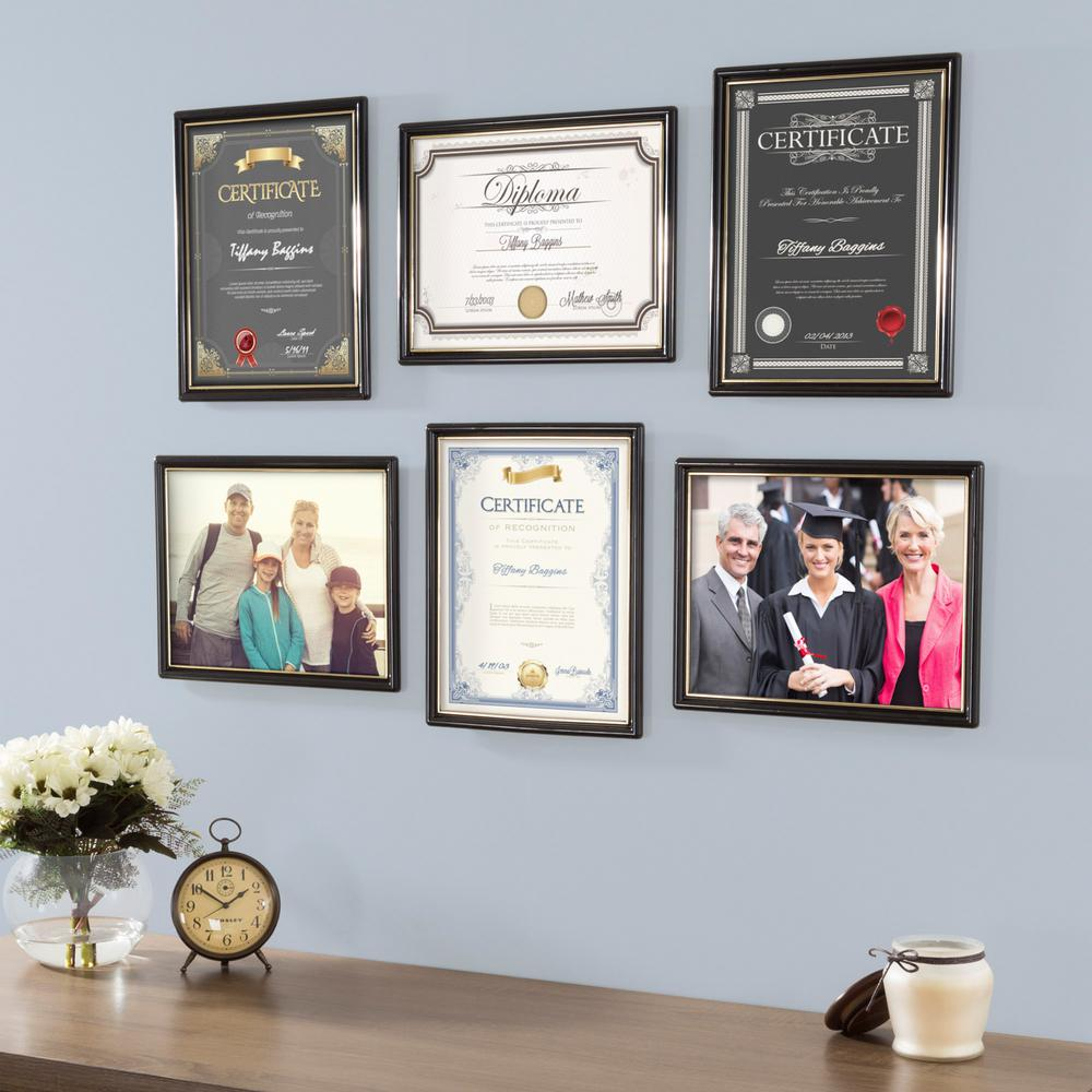 Lavish Home 8.5 in. x 11 in. Black Document Picture Frame (6-Pack ...