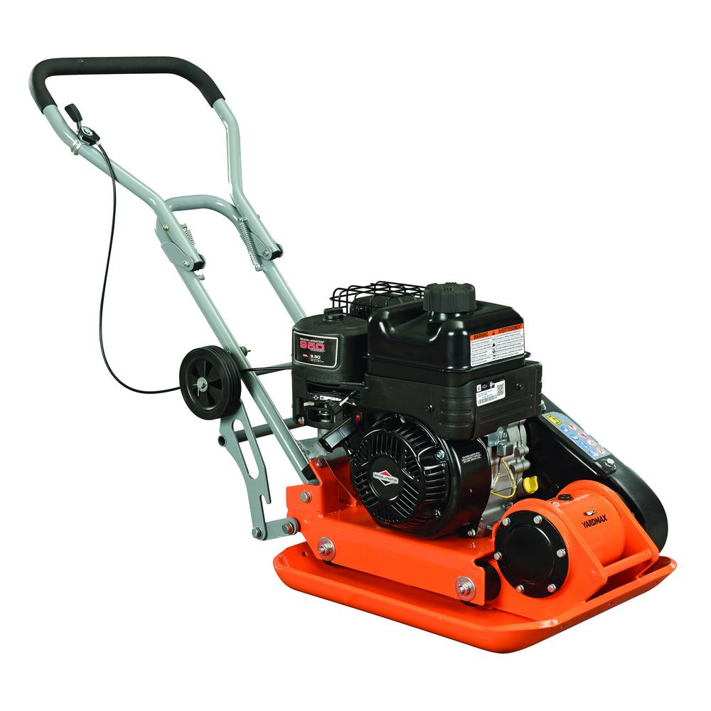 YARDMAX 3000 lb. Compaction Force Plate Compactor Briggs and Stratton 6.5HP/208cc