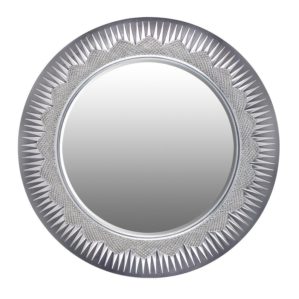 Solar Gray Decorative Wall Mirror