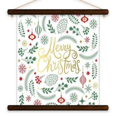 """Merry Xmas"" by Lot26 Studio Printed Canvas Banner Wall Art"