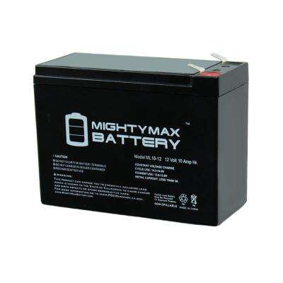 12-Volt 10 Ah Sealed Lead Acid (SLA) Rechargeable Battery