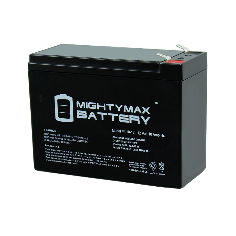 MIGHTY MAX BATTERY 12-Volt 10 Ah Sealed Lead Acid (SLA) Rechargeable Battery
