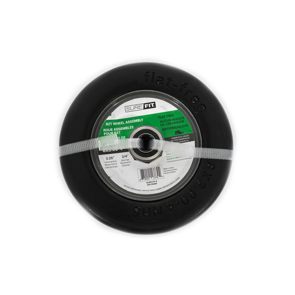 8 in. x 3.00 in. x 4 in. Flat Free Assy RZT Wheel