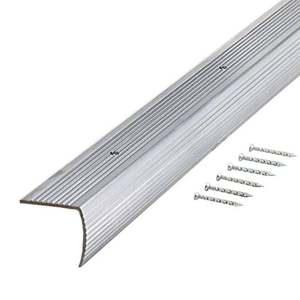 Gentil TrafficMASTER Silver Fluted 72 In. Stair Edging