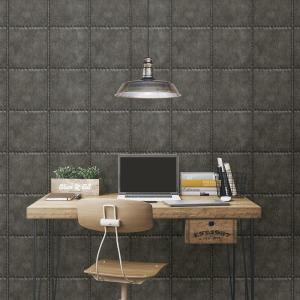 Brewster Charcoal Sheet Metal Rivets Wallpaper Sample by Brewster
