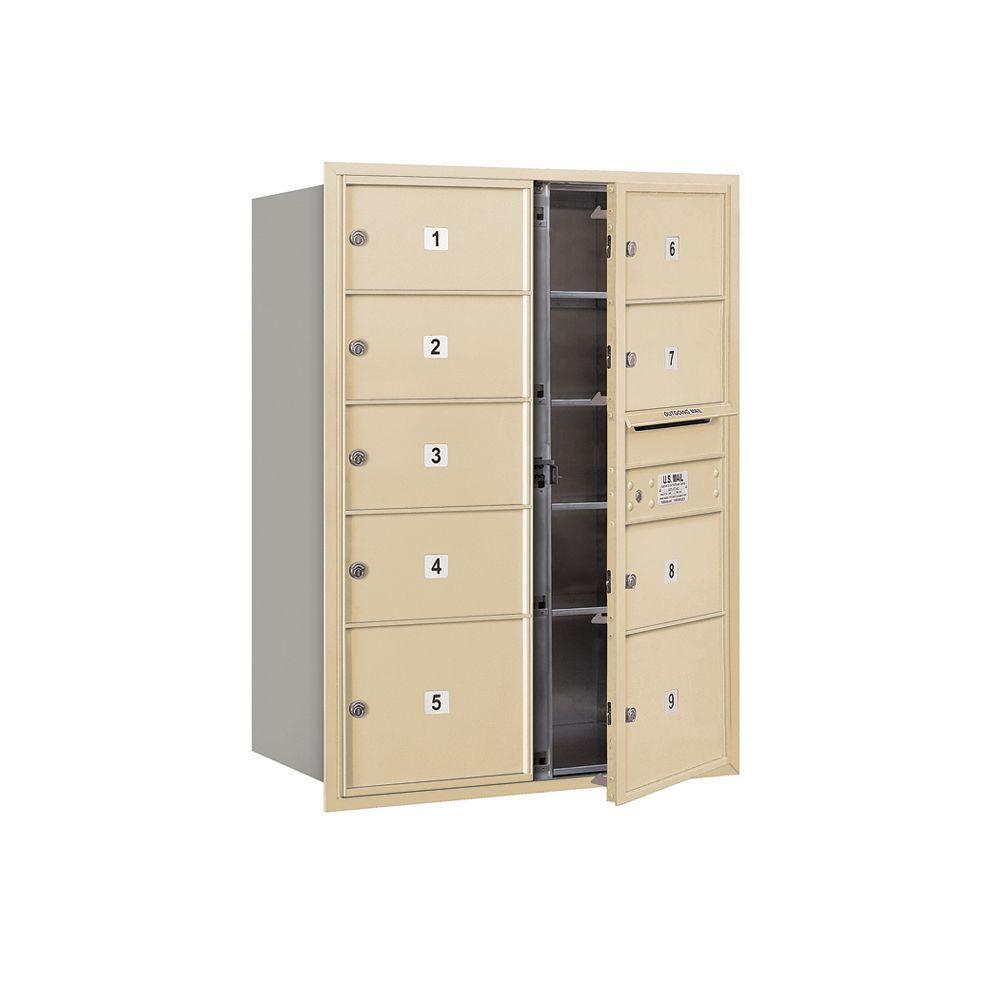 Horiz Mailbox FL USPS 6Dr 48in Bronze