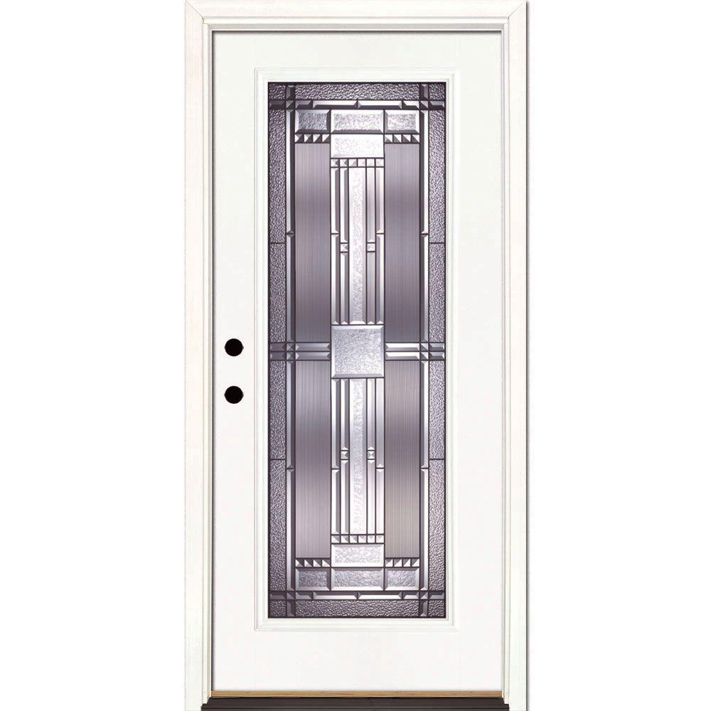 Feather River Doors 37.5 in. x 81.625 in. Preston Patina Full Lite Unfinished Smooth  sc 1 st  The Home Depot & Feather River Doors 37.5 in. x 81.625 in. Preston Patina Full Lite ...