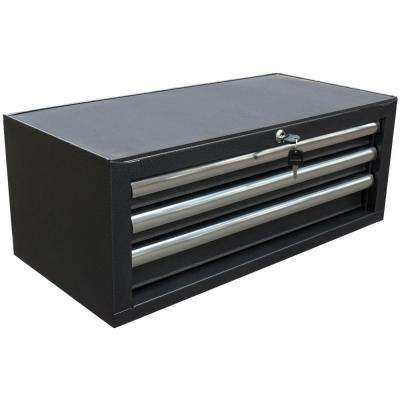 26 in. 3-Drawer Intermediate Chest, Powder Coat Black