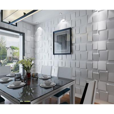 19.7 in. x 19.7 in. White PVC 3D Wall Panels Decorative Wall Design (12-Pack)