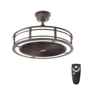 Home Decorators Collection Brette 23 In. LED Indoor/Outdoor Espresso Bronze Ceiling  Fan With Light Kit With Remote Control AM382A ORB   The Home Depot