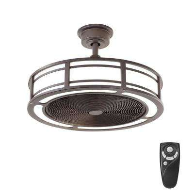 Small room ceiling fans lighting the home depot led indooroutdoor espresso bronze ceiling fan with light kit with aloadofball Images