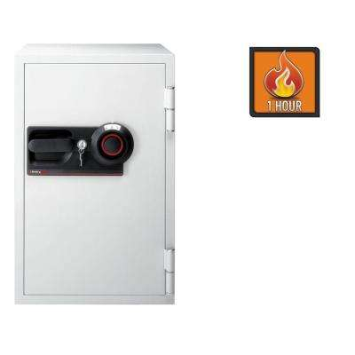Commercial Safe 3 cu. ft. Fire-Safe Combination Lock with Key, Light Gray