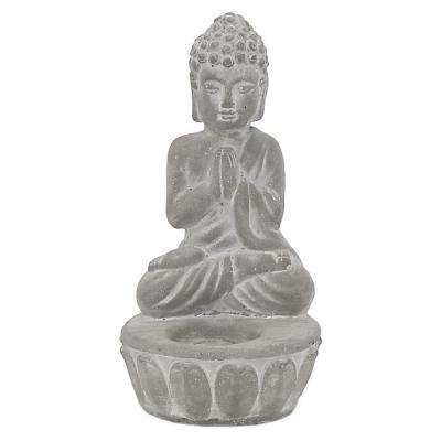 7.75 in. Buddha with Candle Holder
