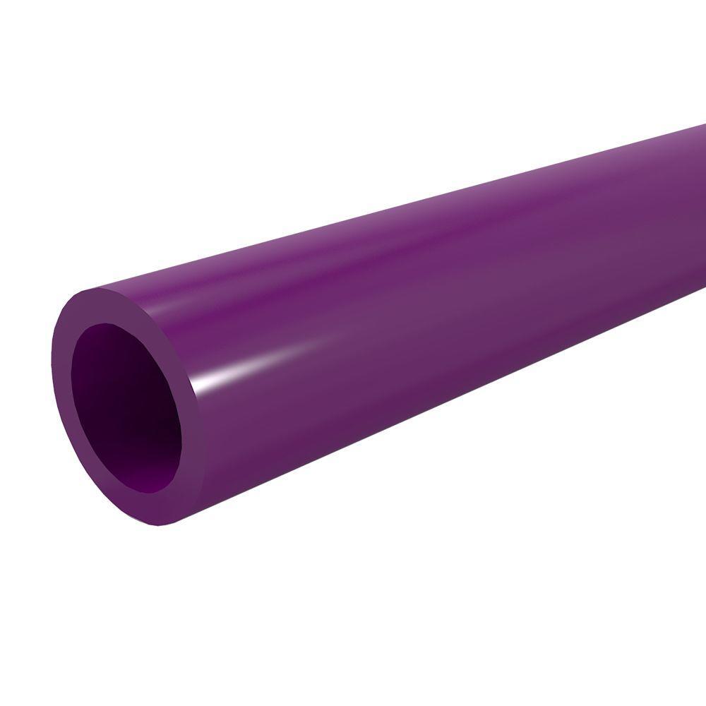 3/4 in. x 5 ft. Furniture Grade Sch. 40 PVC Pipe in Purple