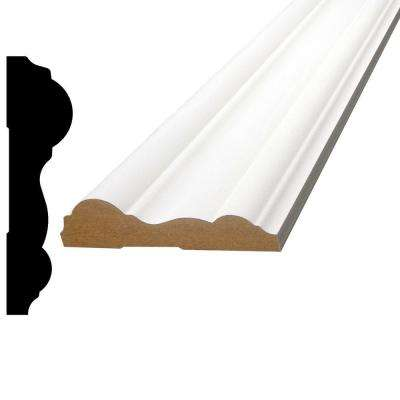 3/4 in. x 3 in. x 96 in. Primed MDF Chair Rail Moulding