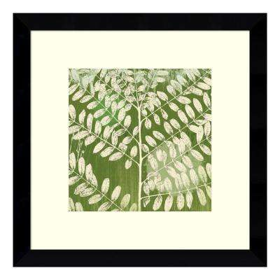 13 in. W x 13 in. H 'Forest Leaves' by Erin Clark Printed Framed Wall Art
