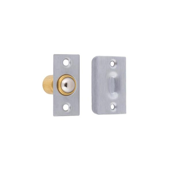 Solid Brass Wide Roller Ball Catch in Satin Chrome