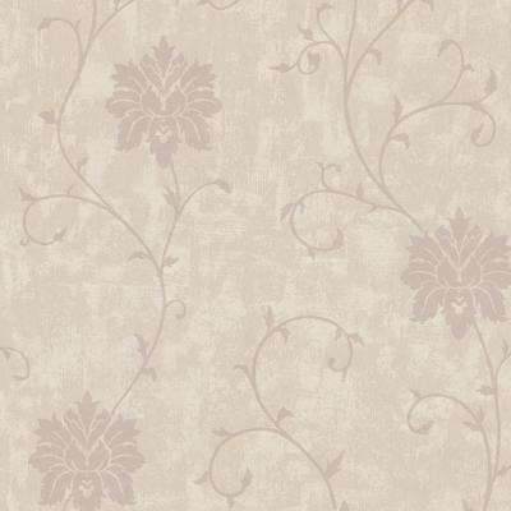 Dahli Taupe Floral Trail Wallpaper